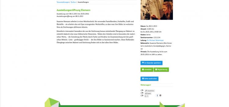 Ausstellungseröffnung Riemann-08-11-2015 / LWH * Ludwig-Windthorst-Haus